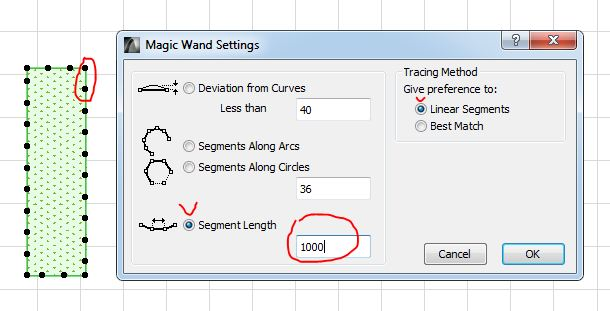 Setting the magic wand ARCHICAD (figure 2)