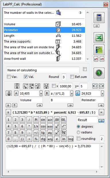 ARCHICAD calculations
