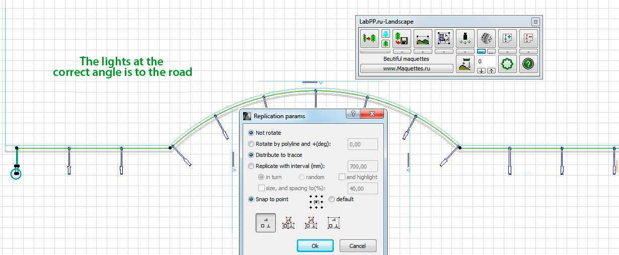 rotate objects by path in ARCHICAD